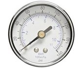 "Pressure Gauge Chrome 1/8"" Male Rear Entry 40mm"