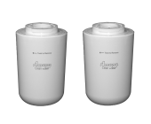 2 x Amana Clean & Clear Internal Fridge Water Filter 12527304