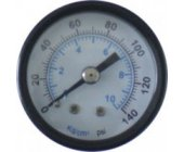 "Pressure Gauge Black 1/4"" Male Rear Entry 40mm"