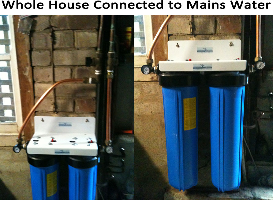 Whole House Water Filter System Connected to Mains Pressure